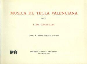 Cabanilles. Obras completas 4
