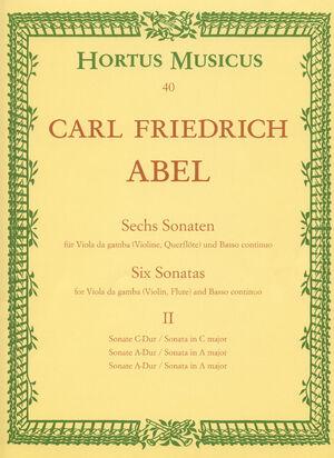 Abel. Sechs Sonaten für Viola da gamba (Violine, Flöte) und Basso continuo. Heft 2
