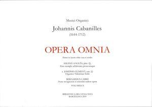 Cabanilles. Opera Omnia X