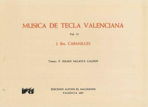 Cabanilles. Opera Omnia II