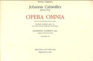 Cabanilles. Opera Omnia VII