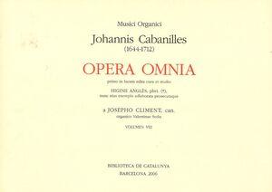 Cabanilles. Opera Omnia VIII