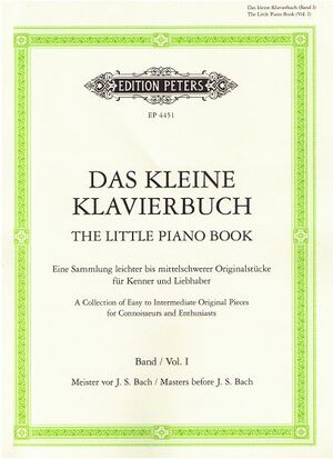 Das kleine Klavierbuch Band I / The little piano book Vol. 1