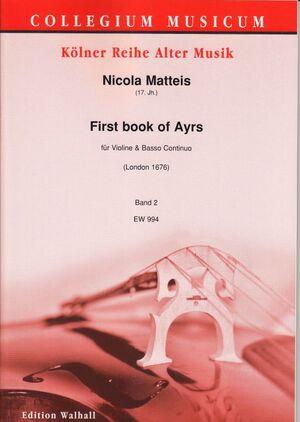 Matteis. First book of Ayrs für Violine und Basso continuo. Band 2