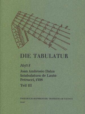 Dalza. Intabulatura de Lauto Petrucci, Teil III