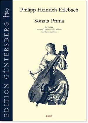 Erlebach. Sonata prima D-Dur für Violine, Viola da Gamba oder 2 Violine und Basso continuo