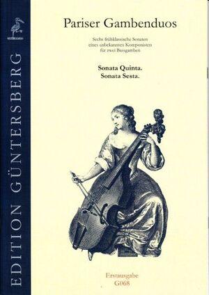 Pariser Gambenduos. Sonata quinta, sonata sesta