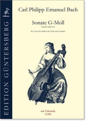 Bach, C. P. E. Sonate g-moll für Viola da gamba oder VIla und Cembalo.