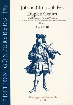 Pez, Johann Ch. Duplex Genius op.1/10-12