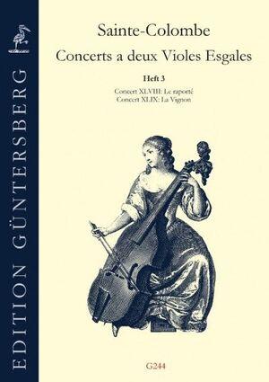 Sainte-Colombe. Concerts a deux Violes Esgales
