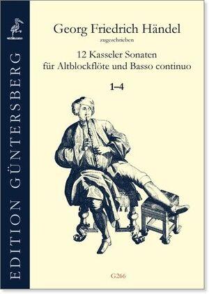 Handel (attrib.). 12 Kasseler Sonaten für Altblockflöten und Basso continuo.
