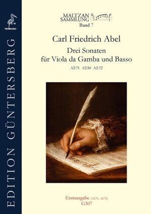 Abel. Drei Sonaten für Viola da Gamba und Basso. Maltzan Collection, Vol. 7