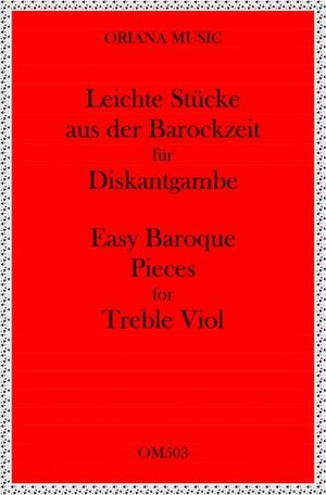 Easy Baroque pieces for Treble VIol