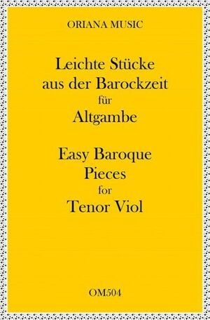 Easy Baroque pieces for Tenor Viol