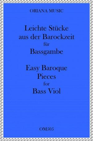 Easy Baroque pieces for Bass Viol