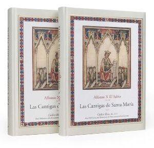 Alfonso X El Sabio (1221-1284). Las Cantigas de Santa Maria. Codice Rico. Estudio 2 Vols.