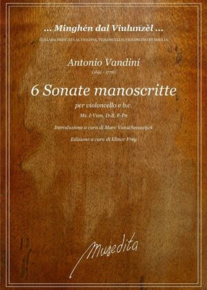 Vandini. 6 Sonate manoscritte per Violoncello e b.c.