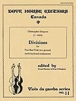 Simpson. Divisions for 2 Bass Viols on a ground