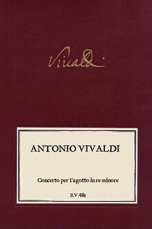 VIVALDI. RV 481 Concerto per Fagotto in re minore