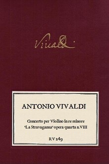 VIVALDI. RV 249 Concerto per Violino in re minore