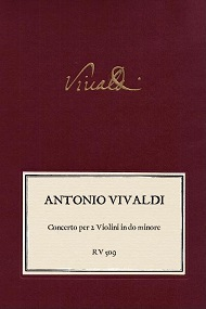 VIVALDI. RV 509 Concerto per 2 Violini in do minore